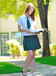Schoolgirl in Green 00