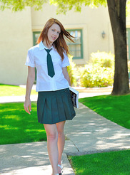 Schoolgirl in Green 01