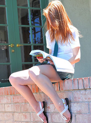 Schoolgirl in Green 08