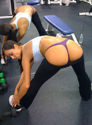 College Girl at Gym 11